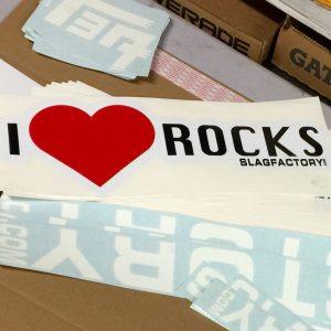 I heart rock sticker